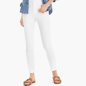 J. Crew White Toothpick Ankle Jeans